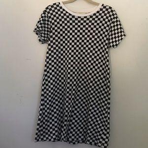 f21 girls checkered t shirt dress size 9/10 NWOT